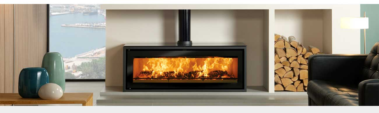 Stovax gazco stoves fires and fireplaces for Contemporary wood fireplace