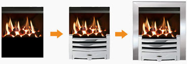 Mix & Match Inset Gas Fire Builder