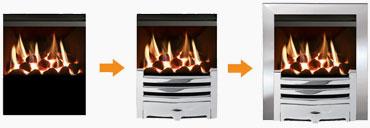Mix & Match Inset Gas Fire Builder