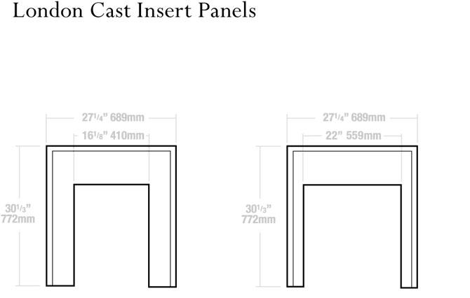 16″ & 22″ Insert Dimensions