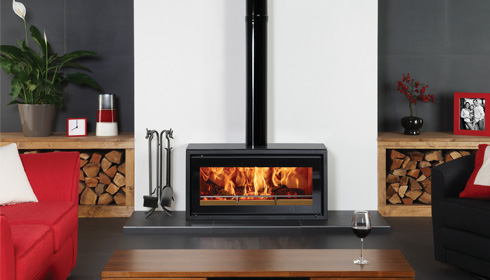 Wood burning in a modern setting - Stovax & Gazco
