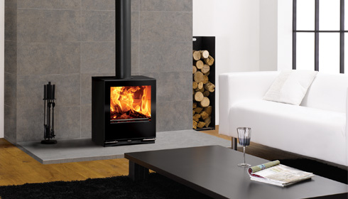 Wood burning for a contemporary setting