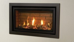 Studio Slimline Profil built in gas fire in Anthracite