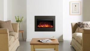 Gazco Riva2 670 Designio2 Steel electric fire in Graphite