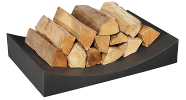 Black Log Holder – Radius Small