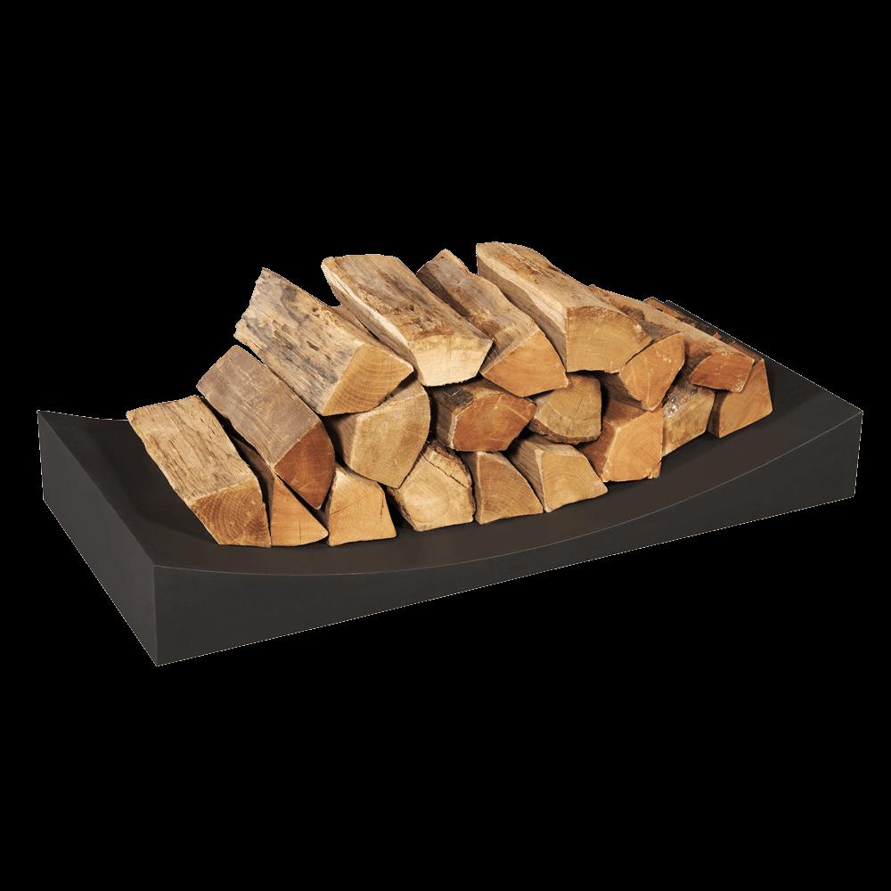 Black Log Holder – Radius Large
