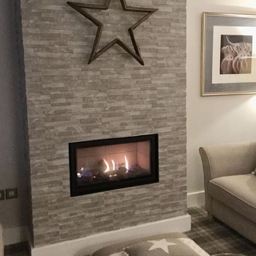Lynn, Studio gas fire, new build without a chimney