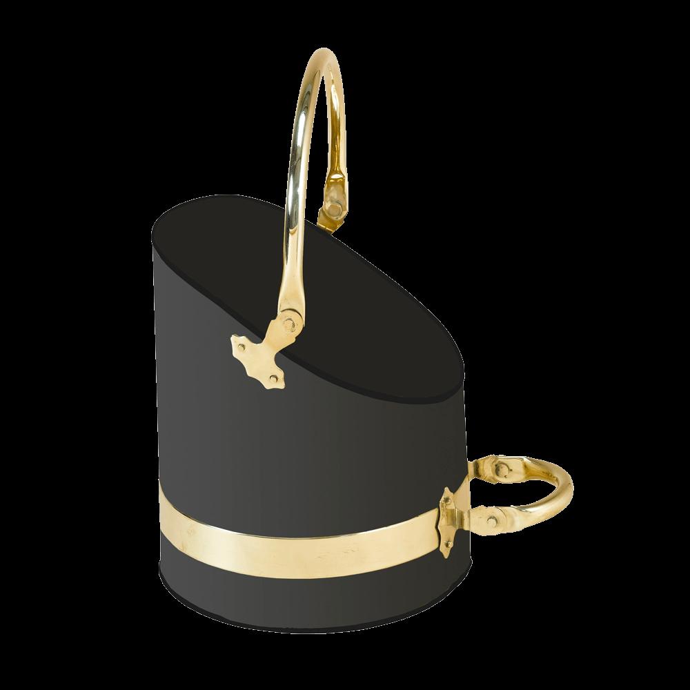 Black/Brass Scuttle