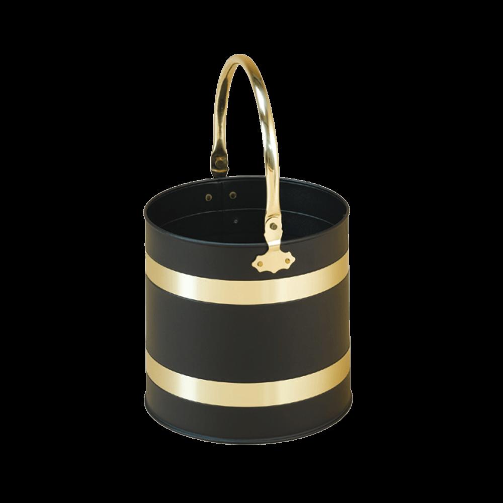 Black/Brass Pail