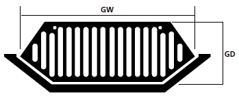 Stool Grates Dimensions