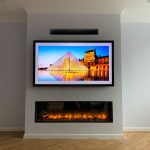 Tv fire wall living room