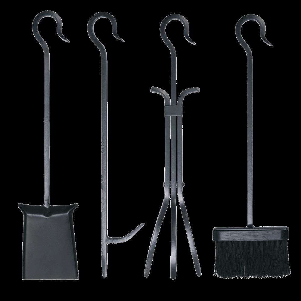 4pc Loop Handle Tool Set with Standard Brush