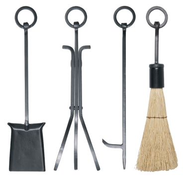 4pc Ring Handle Set with Rustic Brush