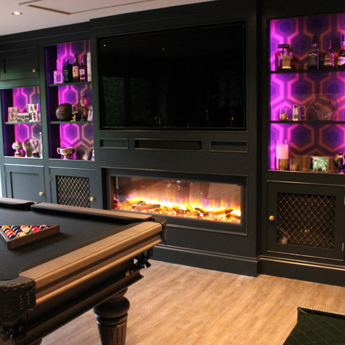 Natasha, Skope electric fire, Sports bar renovation