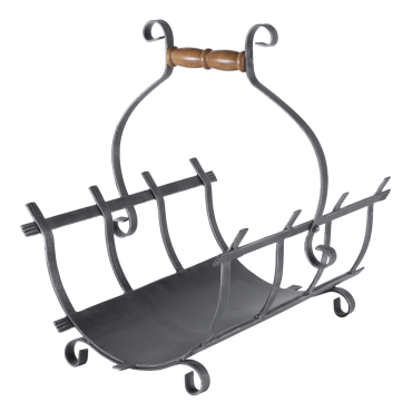 Wrought Iron Log Carrier