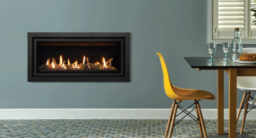 Saving space with a cavity wall gas fire