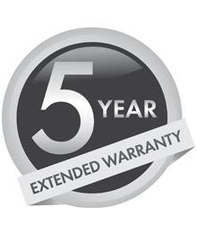 5 Year Warranty Logo
