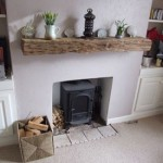♥ Reclaimed wood mantel piece & log burner ♥