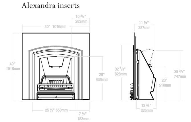 Alexandra Inserts Dimensions