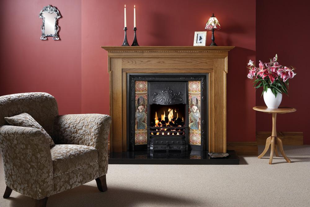 Art Nouveau Tiled Fireplace Fronts - Stovax Traditional Fireplaces : fireplace gas key : Fireplace Design