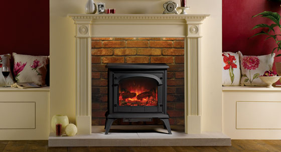 Surround yourself in style with stovax fire surrounds stovax gazco gazco clarendon electric stove with georgian wooden fire surround solutioingenieria Gallery