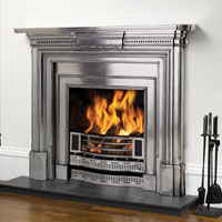 Georgian fully polished cast iron fire surround with Knightsbridge Insert
