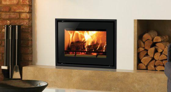 The Stovax Studio 500: stylish landscape wood burning stoves
