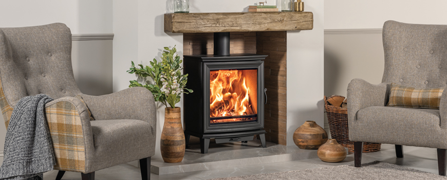Chesterfield 5 Wide wood burning stove