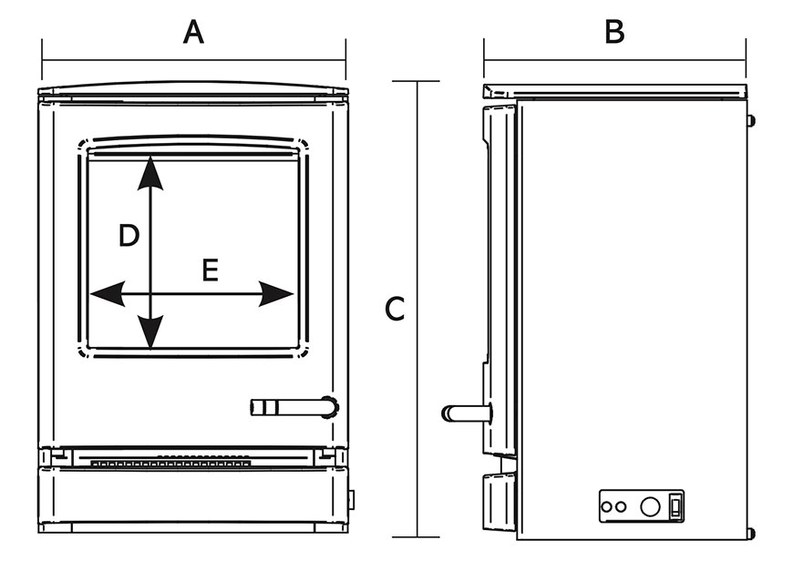 CL3 Electric Stove Dimensions