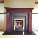 Logic gas fire & cast iron panels by @StovaxGazco – looking good! #cosy #readyforwinter