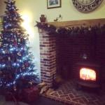 How's this for festive? Our Christmas tree & our @StovaxGazco Huntingdon 40 #STXMAS15