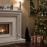 Love this beautiful xmas setting of our limestone fireplace with the Riva 2 500 gas fire. #STXMAS15 @StovaxGazco