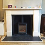 Brand new @StovaxGazco Vogue Midi #logburner installed to all UK Building Regs and best practice. #twostovesoneday