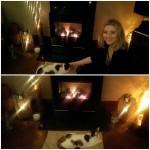 Enjoying a #hearthwarmingmoment… I think my cat loves this fire even more than we do! @StovaxGazco #STXMAS15?  Xxx