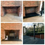 Letchworth, England Before, during and after. One of our jobs from today. @StovaxGazco #logburner #letchworth #gardencity #interior