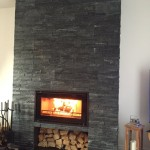 Recent install of @StovaxGazco Studio 1 wood burner with XQ twin wall flue system. No chimney no problem