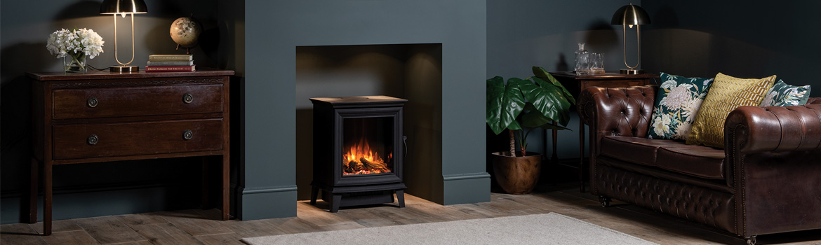Elegant & Effortless. Introducing the Gazco Chesterfield 5 Electric Stove
