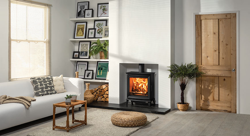 Stovax Chesterfield 5 Wide wood burning convector stove