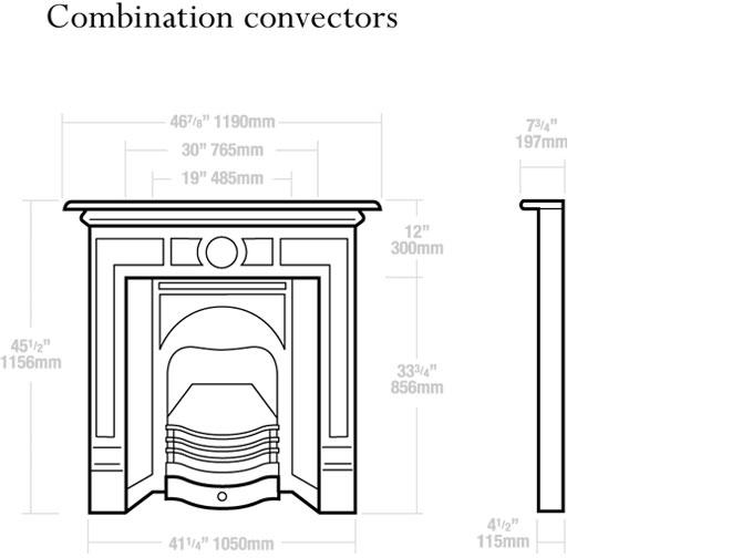 Combination Convectors Dimensions