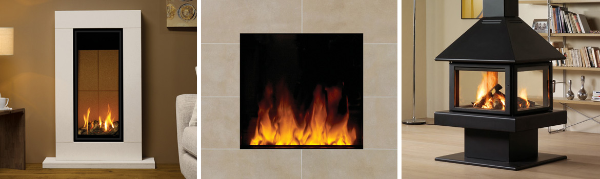 Contemporary fireplace designs the fireplace studio - Contemporary wood furniture burning fireplaces ...