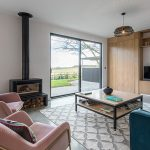 TG Designer Homes, Stovax Studio wood burner, Fun Family Living Space