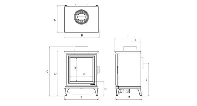 Sheraton 5 Gas Dimensions