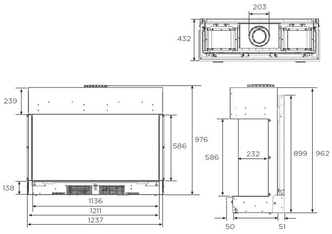 Reflex 105 Multi-Sided Dimensions