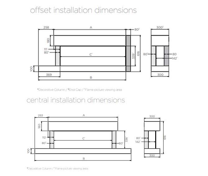 eReflex Trento Suites (formerly Skope) Dimensions