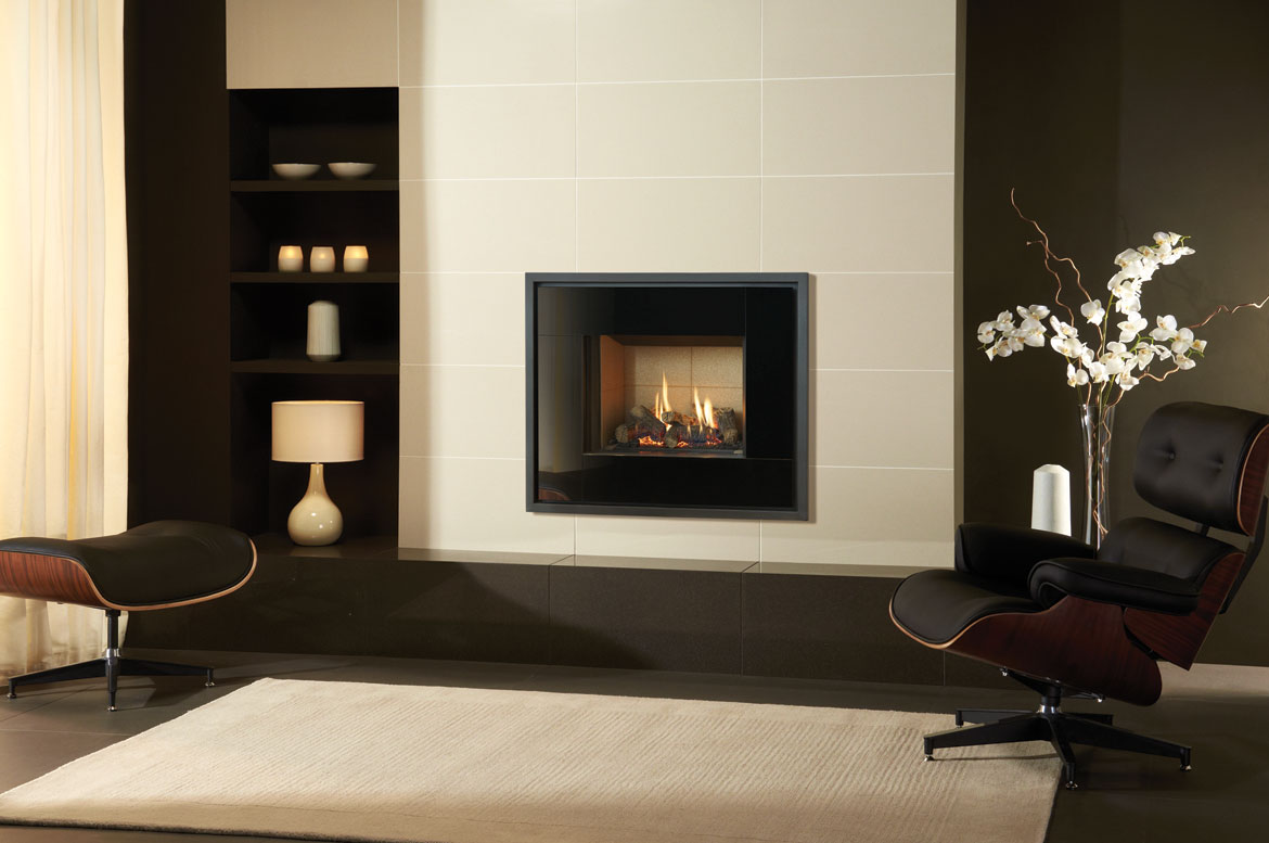 Stovax Durban White Polished Gazco Stovax Fireplace