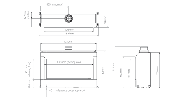 Eclipse 100 Edge Dimensions