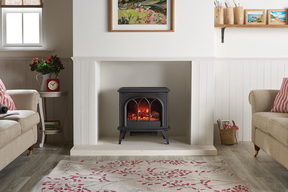 gazco huntingdon 40 electric stove in matt black