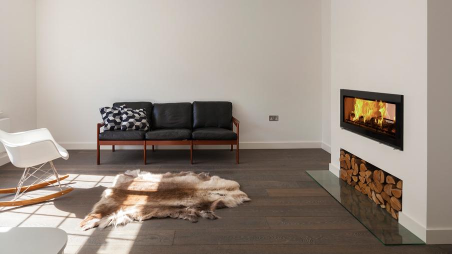 Scenario Architecture Creates Interconnected Living Space With Stovax Studio Duplex Woodburner