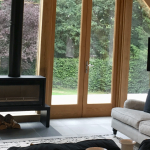 Katie chooses a Stovax Studio Freestanding wood burner for her oak-framed extension project