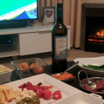 Finals season and there's still a chill in the air. I can't wait to rug up with a spread and a bottle of wine in front of the fire this weekend. Here we have one of our Gazco Logic Electric Profil fireplaces blazing in the background. #footyfinals #westcoasteagles2017 #finalsfever #perthrenovation #warmingwasince1974 #gazco #stovaxgazco #stovaxfireplaces #electricfireplaces #firesnoflue #plugandplay #perthbuilders #foodandfire